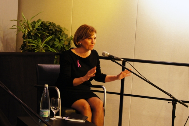 former Australian Ambassador for Women and Girls Penny Williams speaking on the panel