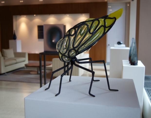 Ein Beispiel unserer neuen Ausstellung mit Kunstwerken aus Glas