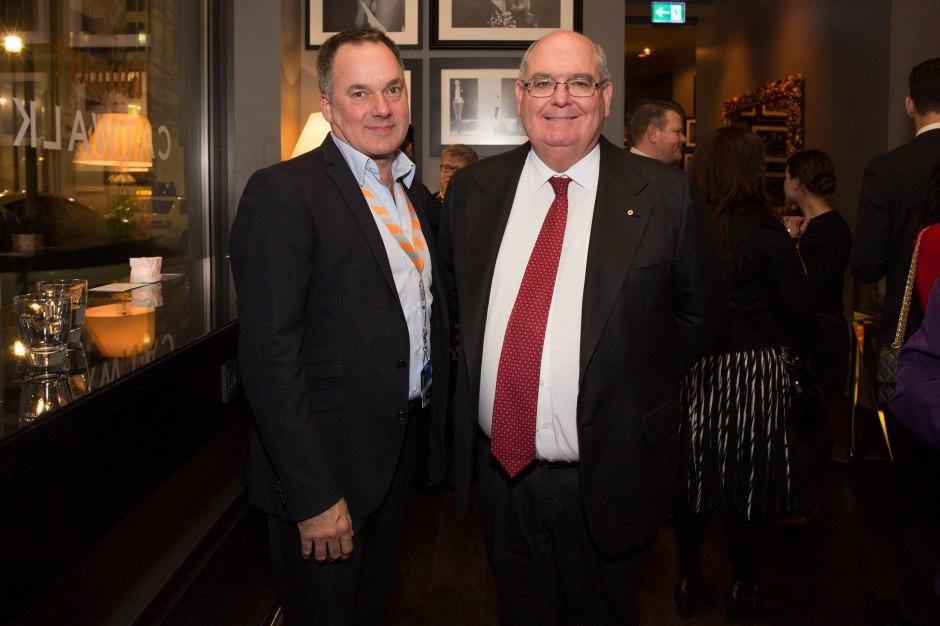 Graeme Mason, CEO Screen Australia neben Botschafter Ritchie