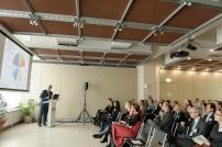 Dr. Hans-Jörg Stähle, BMBF, hält einen Vortrag beim Resarch Forum Australische Botschaft , Foto (c) Kate Seabrook